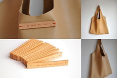 Leather tote by // Between the Lines //, via Flickr