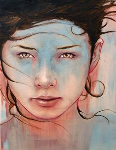 Firefly  12 x 16  Graphite / Acrylic / Oil on Canvas  © Michael Shapcott 2008