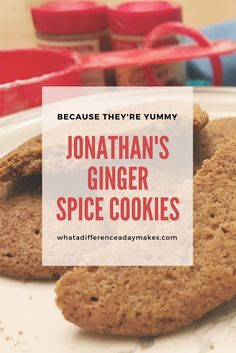 Jonathan's Ginger Spice Cookies - These are the best gingersnaps ever