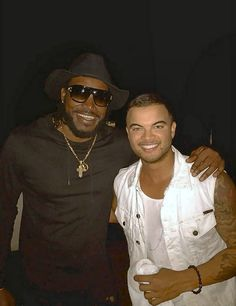 my fave pop singer Guy sebastian and his friend west indies cricketer Chris Gayle