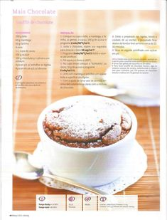 Revista bimby 2011.03 n04 Kitchen Time, Chocolate, Cooking Tips, Healthy Life, Food To Make, Foodies, Sweet Treats, Food And Drink, Yummy Food