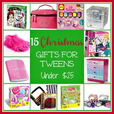 15 Christmas Gifts for Tween Girls under $25- oh look Sof's santa wish is on this :)