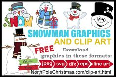 Not just one snowman, here is the entire snowman clan! These 26 free happy snowman clipart are waiting for you in SVG, JPG, DFX, EPS or line art formats. Elf Clipart, Penguin Clipart, Angel Clipart, Snowman Clipart, Cricut Christmas Ideas, Christmas Tree Clipart, Christmas Crafts, Welcome Winter, Baby Clip Art