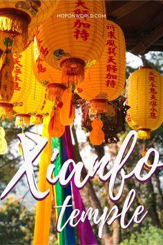 Xianfo Temple: Nantou's Best-Kept Secret | Hoponworld Taiwan Travel, Asia Travel, Sun Moon Lake, Temple Of Heaven, Buddha Temple, Mystical Forest, Red Lantern, Best Kept Secret, Peaceful Places