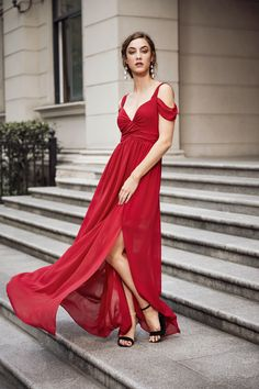 54bc92a55314 COLROVIE Sexy Ruched Maxi Party Dress 2017 Cold Shoulder Women Red Split  Draped Summer Dresses Fashion Elegant Ladies Long Dress-in Dresses from  Women s ...