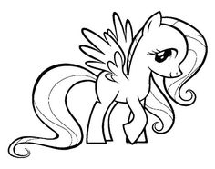 My Little Pony Fluttershy Coloring Page: My Little Pony