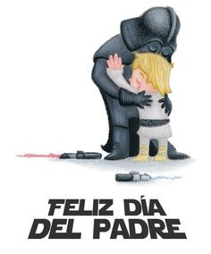 Darth Vader and Luke Skywalker embracing in a friendly hug Hug Illustration, D Mark, Image Of The Day, Geek Out, Happy Fathers Day, You Are The Father, Star Trek, Nerdy, Pop Culture