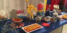 Happy Birthday Santiago 5 años Transformers Rescuetbots decorando Cake Rescuetbots full diversión.
