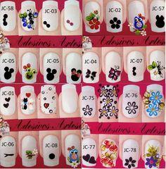 Adesivo de unha artesanal Manicure E Pedicure, Nail Designs, Nail Art, Holiday Decor, Nails, Nails For Kids, Nail Jewels, Art Nails, Gel Nail
