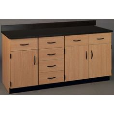 Stevens ID Systems Science Workstation Color: Ebony Star, Finish: Light Oak, Surface Type: Phenolic
