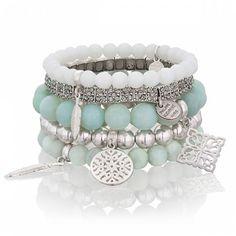 MIĘTOWY POCAŁUNEK  #mokobelle #mokobellejewellery #set #accessories #look #jewelry #bracelet #bransoletka #mint #mięta #fashion