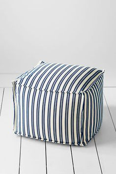 Lands' End Ticking Stripe Ottoman ⚓⚓ Beach Cottage Life ⚓ Seaside Style