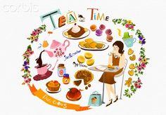 Illustration of tea time