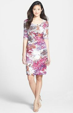 Adrianna Papell Print Sheath Dress available at Floral Dress Outfits, Purple Floral Dress, Bride Dresses, Party Dresses, Formal Dresses, Fashion 2014, Adrianna Papell, Nordstrom Dresses, Lawyer