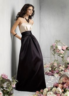 Dazzling Black & White Dress - Jim Hjelm Occasions Bridesmaids and Special Occasion Dresses Style jh5818 by JLM Couture, Inc.