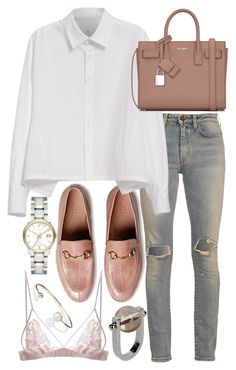 Untitled #20527 by florencia95 on Polyvore featuring polyvore, fashion, style, Y's by Yohji Yamamoto, Yves Saint Laurent, Fleur of England, Gucci, Jil Sander, Burberry, Letters By Zoe and clothing