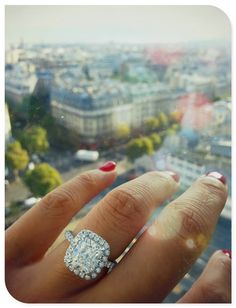 Cushion cut engagement ring. My dream ring!!