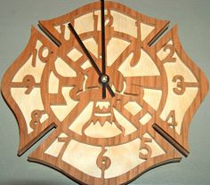 Fireman's Wall Clock Fireman Symbols Fireman by TheSawdustFairy