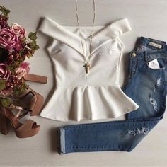 Blouses for women – Lady Dress Designs Big Fashion, Look Fashion, Womens Fashion, Girl Outfits, Casual Outfits, Fashion Outfits, Pretty Outfits, Cute Outfits, Clothes 2018