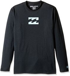 Billabong Big Boys Loose Fit Long Sleeve Rashguard Black Heather Wave 10 -- See this great product.Note:It is affiliate link to Amazon.