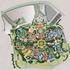 Six Flags Dubailand Planet Coaster, Disney Concept Art, Six Flags, Terraria, Parking Design, Historical Images, Master Plan, Urban Planning, Roller Coaster