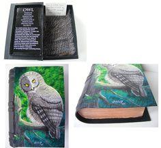 Great Grey Owl Totem Trinket Box by NekoWashu