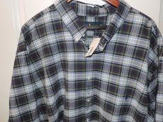 Ralph Lauren Polo Designer Big & Tall Blue Plaid Button Down Shirt SZ 4XB NWT    #RalphLauren #ButtonFront