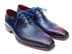 Mens Wingtip Oxfords Blue & Purple - PRO Quality  Many Types And Variations In Mens Wingtip Oxfords Too! Free Shipping Anywhere In The World.