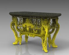 "Is printing the new ""inlaying brass""? French Architect Vincent Coste reinterprets century commode with printed design."
