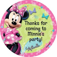 Miss Mouse Personalized Stickers (Sheet Of 12) - Customized Stickers & other Personalized Party Supplies from Birthday in a Box $2.99