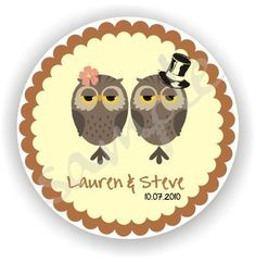 Personalized circle Stickers  5 sheets  by MoreandMoreOriginals, $30.00
