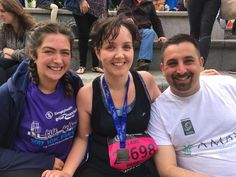 Hussein Al-alak, Clare Carrie and Orla running the #Manchester 10k 2017 for the UK based AMAR Foundation.