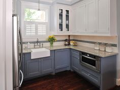Ethereal Kitchen design electrical layout,Small kitchen remodel with island before and after and Kitchen cabinets and layouts. Two Tone Kitchen Cabinets, Kitchen Cabinet Styles, White Cabinets, Upper Cabinets, Colored Cabinets, Painted Cupboards, Wall Cabinets, Refinish Cabinets, Inset Cabinets