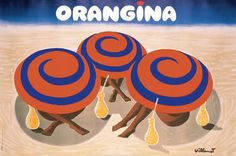 Villemot Orangina Beach Poster
