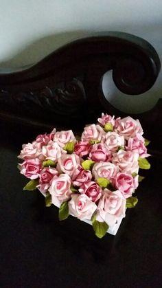 Caixa bijuterias flores