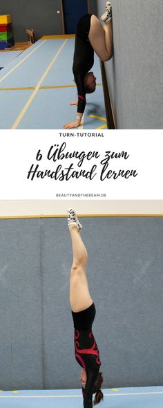 Learn 6 handstand exercises [Turn Tutorial] - ANNIKA HERKLOTZ 6 Übungen zum Handstand lernen [Turn Tutorial] Handstand learning is not that difficult. I'll show you 6 exercises that you can do at home to make your handstand easier. Yoga Handstand, Handstand Training, Handstand Progression, Handstand Challenge, Press Handstand, Handstands, Fitness Workouts, Yoga Fitness, Fitness Motivation