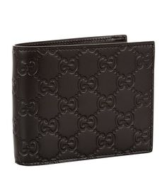Gucci Signature Leather Wallet In Brown Gucci Handbags, Luxury Handbags, Gucci Bags, Leather Accessories, Fashion Accessories, Guccio Gucci, Gucci Designer, Gucci Bamboo, Money Clip Wallet