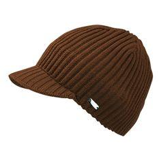 INDIGO Visor Hat Brown - Classic premium hat with short visor. Shields from snow and rain.