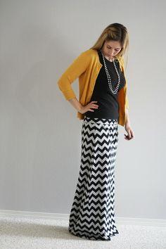 A Chevron Maxi Skirt