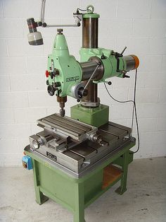 OERLIKON UB2 Drill with compound table. Made in Switzerland
