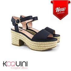 Andando nas alturas com charme e conforto #koquini #comfortshoes #euquero Compre Online: http://koqu.in/2d1o55x