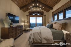 Guest Bedroom in Park City, Utah by Cameo Homes Inc.  Picture Credit:  Lucy Call