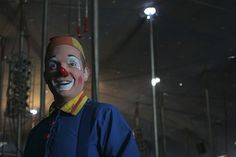 Clown in Sandpoint, Indiana, 2006. Photo by delunachick, via Flickr.