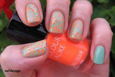 Orange neon flowers