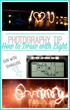 how to take sparkler pictures - -Drawing with Light (aka, photo fun with SPARKLERS!) - Sugar Bee Crafts : how to take sparkler pictures - -Drawing with Light (aka, photo fun with SPARKLERS! Photography Lessons, Night Photography, Photography Tutorials, Amazing Photography, Photography Ideas, Friend Photography, Photography Challenge, Light Painting Photography, Photoshop Photography