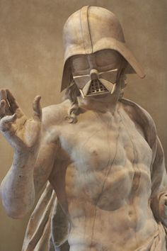 Beautiful stone and marble statues of beloved heroes and villains from the Star Wars universe. Paris based artist Travis Durden combined bodies of ancient statues with heads of Darth Vader, Yoda, and other iconic Star Wars characters. Star Wars Statue, Star Wars Art, Statue Antique, Art Antique, Classical Greece, Classical Art, Greek Statues, Star Wars Prints, Art Gallery