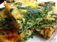 Crustless Spinach Quiche Squares