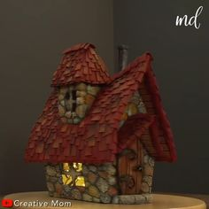 Fairy House Crafts, Clay Fairy House, Doll House Crafts, Fairy Houses Kids, Diy Crafts Hacks, Diy Crafts For Gifts, Diy Home Crafts, Craft Stick Crafts, Cool Paper Crafts