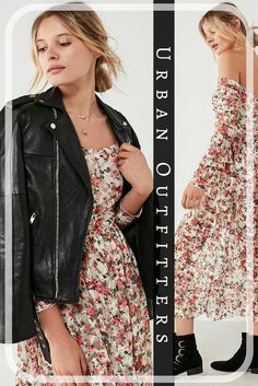 UO Off-The-Shoulder Floral Lace Midi Dress | Urban Outfitters | floral | midi dress | 90s inspired | fall trends | back to school fashion
