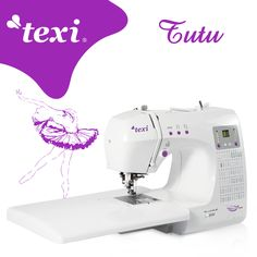 Texi Tutu - Computerized sewing machine with 66 stitch programs (including 5 types of buttonhole, straight, zig-zag, overlock and decorative stitches). Extras included: feet, bobbins, seam ripper with brush. #texisewing #sewingmachine #yeswesew